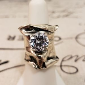 Gorgeous Israel AAAA Quality CZ Ring in .925
